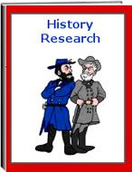 History Research -   This file of worksheets contains 101 pages. The files on History Research ask a very specific question about history on each page. Some subjects include the United States, inventors, foreign countries, leaders, much more. The student must look up information about the subject and write the information on the lines. There is a place for the student to draw a picture about the subject matter. It is a wonderful opportunity for research and writing.