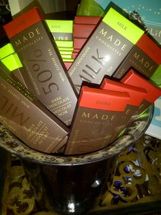 A Nifty little gift....Chocolate that pairs with red or white wine, coffee, tea and more...
