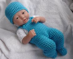 Crochet pattern for Berenguer 14 inch la newborn от petitedolls