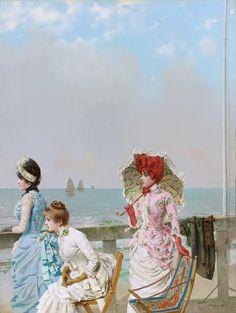 """ Vittorio Matteo Corcos, Southern Sea, (1884) """
