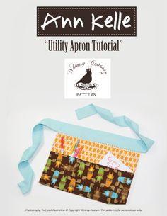 Download Utility Apron PDF Sewing Pattern Sewing Pattern | Beginner Basics | YouCanMakeThis.com