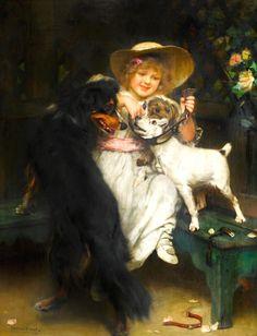 Unknown Title - Arthur John Elsley (English, 1860-1952)