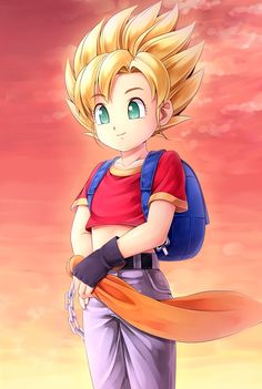 Girl Goku d'aww she's so cute. #dragonball #dragonballz #dbz<< GIRL GOKU!! THIS IS PAN!! DAUGHTER OF GOHAN!! YOU UNEDUCATED NOODLE