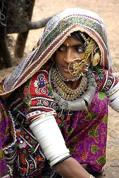 portrait femme indienne