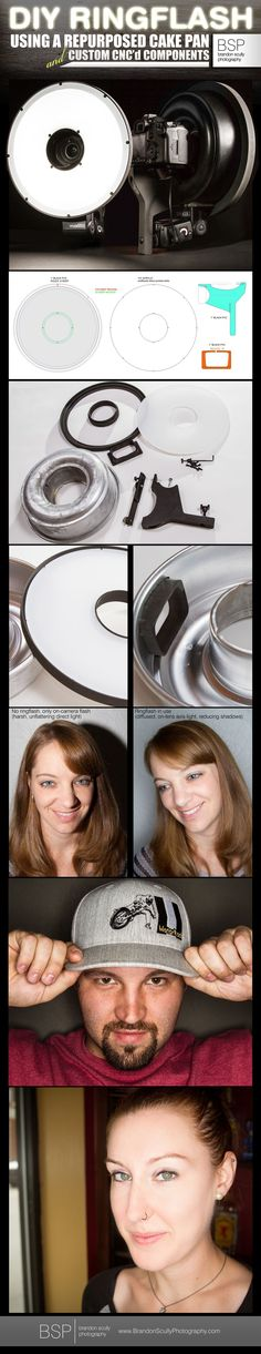 Photography DIY - Ring Flash / Ring Light For Speedlight Using a Repurposed Bunt Cake Pan And Custom Components using a CNC router