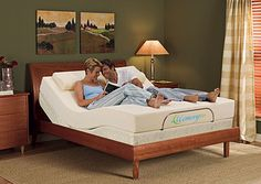 MemoryZzz Adjustable Bed Green Furniture, Bed Furniture, Home Bedroom, Bedroom Decor, King Sheets, Adjustable Beds, Sheet Sets, Home Furnishings, Toddler Bed