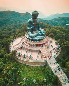 """Tian Tan Buddha. Lantau, Hong Kong. Photography by salty_sandals"