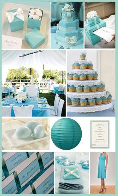 Tiffany blue wedding and ill be adding coral and grey to this some how :))