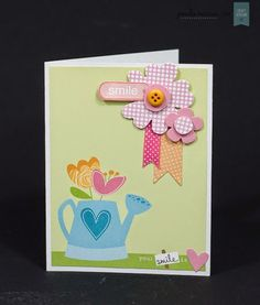 With these Meadow Sweet papers from Craft Asylum and woodland floral Thinlits from Sizzix you can create beautiful cards like this one! New Crafts, Paper Crafts, 3d Projects, Asylum, Flower Cards, Design Crafts, Making Ideas, Creative Design, Cardmaking