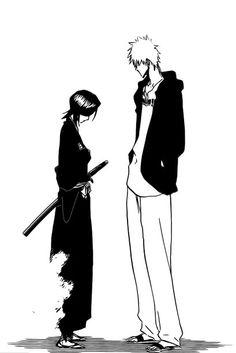 Ichigo y Rukia Ichigo Manga, Manga Bleach, Bleach Ichigo And Rukia, Manga Anime, Kuchiki Rukia, Bleach Fanart, Shinigami, Studio Ghibli Wallpaper, Bleach Quotes