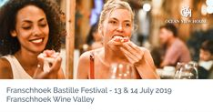 The upcoming Bastille Festival in Franschhoek is set to feature world-class French-inspired food and wine. near the Ocean View House Bastille, Cape Town, Live Music, Wine Recipes, Parisian, Ocean, House, Home, Parisians