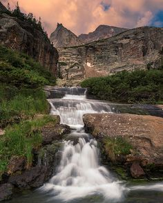 Sunset near Black Lake, Rocky Mountain National Park.