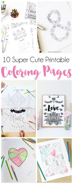 10 Super Cute Printable Coloring Pages (Free!)!!
