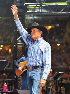 George Strait Photos Photos: George Strait's The Cowboy Rides Away Tour Final Stop At AT&T Stadium - Show Country Musicians, Country Singers, Country Artists, George Strait Family, Joyce Taylor, National Finals Rodeo, American Songs, Country Men, Top Country
