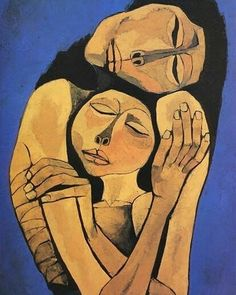 by Oswaldo Guayasamin Quito, Ecuador) or 'Mother & Child' Art And Illustration, Eduardo Kingman, Learn Art, Fine Art, Portrait Art, Figurative Art, Art Inspo, Modern Art, Contemporary Art