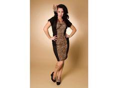 Trixie Wiggle Dress - Leopard/Black