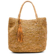 florabella Palmdale Tote (1698550 PYG) ❤ liked on Polyvore featuring bags, handbags, tote bags, tote bag purse, fringe tote, woven tote, fringe handbags and woven purse