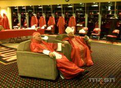 U.S. Bishops use the Washington Nationals locker room before the 2008 Papal Mass