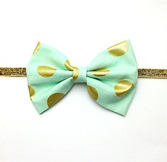 Hey, I found this really awesome Etsy listing at https://www.etsy.com/listing/192170560/babygirls-mint-and-gold-polka-dot-fabric