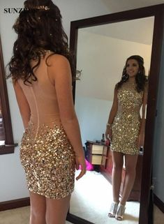 Sequins beaded prom dress , #Short Homecoming Dress #HomecomingDresses #Short PromDresses #Short CocktailDresses #HomecomingDresses