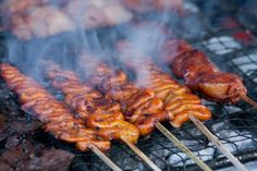 Isaw-Grilled chicken intestine also nicknamed IUD because it resembles an intra-uterine device. Grilled or deep-fried on a skewer, served with sweet, sour or spicy sauce.