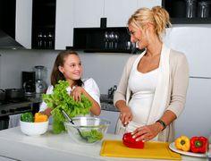 Los niños son menos obesos cuando cocina la madre
