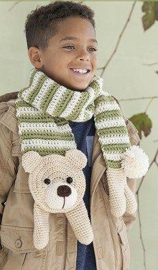 Tim the Teddy Bear - Amigurumi Animal Scarves - Leisure Arts - eBook Review by Oombawka Design