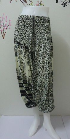 Hey, I found this really awesome Etsy listing at https://www.etsy.com/listing/192108501/black-elephants-baggy-harem-pant-genie