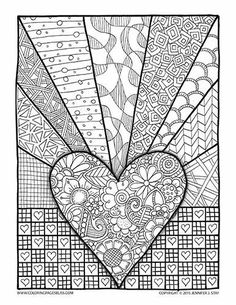 coloring page valentines day abstract doodle zentangle paisley coloring pages colouring adult detailed advanced printable kleuren