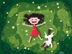 Spring Again by Sara Meteos on Behance Children's Book Illustration, Character Illustration, Cartoon Pics, Cartoon Art, Cartoon Wallpaper, Cute Drawings, Cute Wallpapers, Cute Art, Character Design