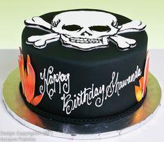 Blaze & Skull Cake