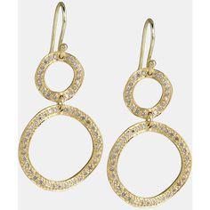 Ippolita 'stardust - Mini Snowman' Diamond & 18k Gold Earrings ($2,500) ❤ liked on Polyvore
