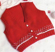Bergere de France Babies Knitting Patterns Vest Knitting Pattern