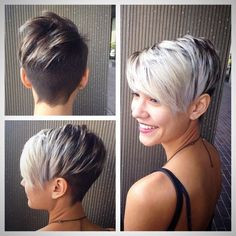 Pixie Undercut, Short Funky Hairstyle, Hair Cut, Short Hairstyles, Undercut Pixie, Hair Style, Haircut, Funky Short Hair Color