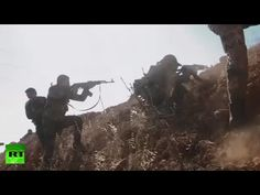 Combat footage:  Syrian Army breaks 3-year siege of 2 Shia villages in A...