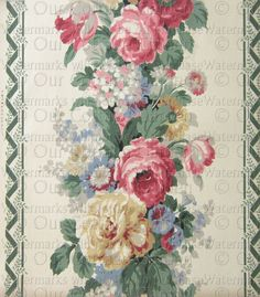 Vintage FLORAL Wallpapers * c1940s   Repin from ourcottagegarden.com