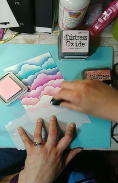 card making ideas techniques In this video Ill be sharing my handmade cloud stencil and my technique for creating clouds with Distress Oxide Inks Thanks for watching Card Making Tips, Card Making Tutorials, Card Making Techniques, Encre Distress Ink, Distress Oxide Ink, Cute Cards, Diy Cards, Druckfarben Im Distress-look, Distress Ink Techniques