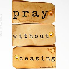 Pray Without Ceasing {31 days} from StudioJRU