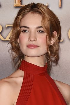 Lily James at the 'Cinderella' Photocall in Milan on February 18, 2015.