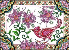 Coloring Book For Adults Mehndi Indian Animal Flowers Paisley Designs Relax Art