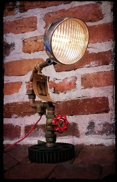 Awesome light made using reclaimed copper piping!