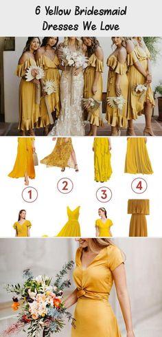 6 Yellow Bridesmaid Dresses We Love - Tremaine Ranch #BridesmaidDressesShort #IvoryBridesmaidDresses #SageBridesmaidDresses #BridesmaidDressesPurple #ChampagneBridesmaidDresses