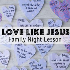 Love Like Jesus - A family night idea inspired by Valentine's Day is up on the blog thanks to Adelle. Check it out and spread the love!