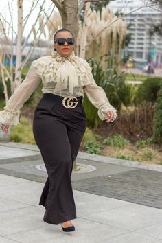 Ruffle it up Look Plus Size, Curvy Plus Size, Plus Size Girls, Trendy Plus Size, Plus Size Women, Classy Outfits, Girl Outfits, Cute Outfits, Fashion Outfits