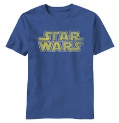 This light navy blue officially licensed vintage Star Wars-Vintage Logo T-Shirt is the perfect gift for the Star Wars aficionado in your house. This T-shirt can be paired with shorts or jeans and is a classic head nod to one of the best movies ever created. It's machine washable and comes in sizes from medium to 2XL.