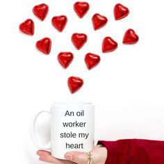 Oil worker Gift-Oil Worker.An oil worker stole my heart, Oil worker mug', Oil extraction,Oil field,Oil rig,oil derrick