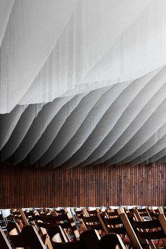 ceiling // http://www.yatzer.com/Concert-hall-installation-Archabbey-Pannonhalma-hungary