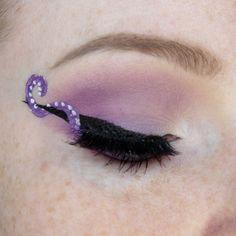 Helix octopus liner unique eyeliner trend! http://www.costerobeauty.com/blog-costero/2016/9/9/helix-liner Credit: CoffeeMermaid on Reddit // @AdriMermaid on Instagram