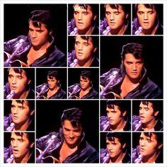Elvis Black Leather Collage