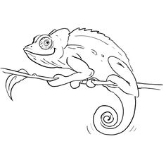 Free Chameleon Template - Medium | Shapes and Templates Printables ...